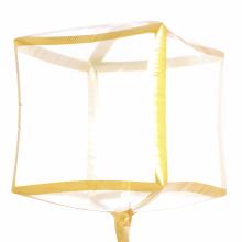 아나그램 트림 큐브 골드 투명 클리어풍선