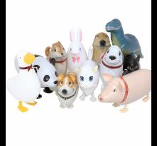 산보풍선 강아지풍선 동물풍선 오리 토끼 돼지 산책 움직이는 끌고다니는풍선