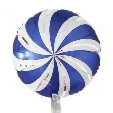아나그램 원형풍선 45cm 사틴아주르캔디스월 은박호일