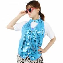 반짝이조끼 라이트블루 성인 아동 반짝이옷 무대 파티의상