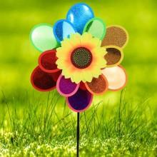 정원용바람개비 2단홀로그램(해바라기) 어린이집꾸미기 캠핑바람개비