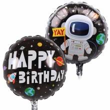 퀄라텍스 원형45cm 생일우주비행사 생일파티풍선