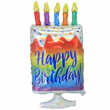 아나그램 라지쉐잎 이리데슨트 생일케익 풍선 홈 파티 장식 은박 호일 헬륨풍선