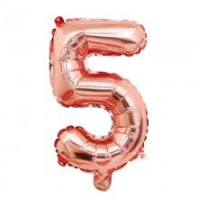 숫자호일5(로즈골드/소) 은박호일 소형 이니셜 풍선