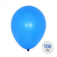 퀄라텍스 고무풍선 28cm 네온 블루 100개입