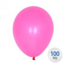 퀄라텍스 고무풍선 28cm 네온 핑크 100개입