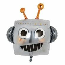 퀄라텍스 라지쉐잎 로봇얼굴 은박호일 풍선