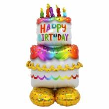 아나그램 에어룬즈 생일케이크 은박 풍선