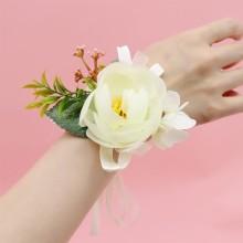 꽃팔찌 블루밍로즈(크림) 브라이덜샤워꽃팔찌 브라이덜파티 소품