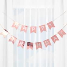 생일파티가랜드 로즈골드 해피버스데이 파티장식