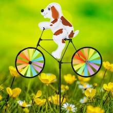 정원용바람개비 자전거타는강아지 어린이집꾸미기 캠핑바람개비 정원장식