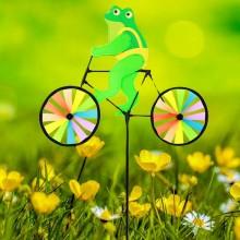정원용바람개비 자전거타는개구리 어린이집꾸미기 캠핑바람개비 정원장식