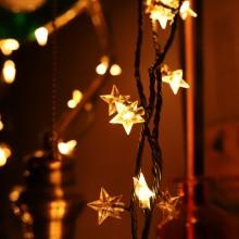 3파이 뉴 별전구 녹색선 웜 9m 크리스마스 전구 트리 장식