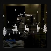 크리스마스 윈도스티커 트윈루돌프 벽 데코스티커