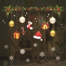 크리스마스 윈도스티커 선물리스 벽 데코스티커