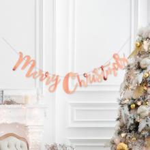 메리크리스마스가랜드 로즈골드 파티 벽장식 X-MAS