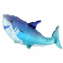 아나그램 미니쉐잎 상어 은박 호일풍선