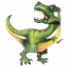 퀄라텍스 노스스타 라지쉐잎 티라노사우르스 공룡파티 헬륨 은박풍선