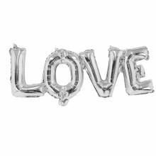 아나그램 라지쉐잎 러브 실버 이니셜풍선 LOVE 알파벳 은박풍선