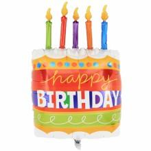 퀄라텍스 라지쉐잎 생일케익과캔들 생일파티풍선