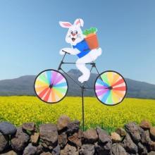 정원용바람개비 자전거타는토끼 어린이집꾸미기 캠핑바람개비 정원장식