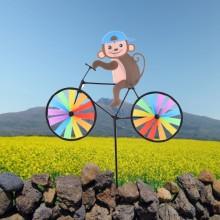 정원용바람개비 자전거타는원숭이 어린이집꾸미기 캠핑바람개비 정원장식