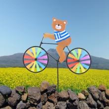 정원용바람개비 자전거타는 곰 어린이집꾸미기 캠핑바람개비 정원장식