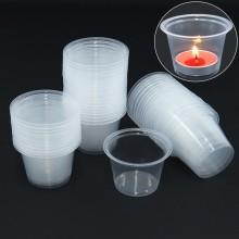 티라이용컵(50입) 촛불 이벤트초 티라이트홀더 투명컵