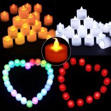 LED촛불 티라이트캔들(24개입) 전기초 전자초 엘이디초 프로포즈 이벤트용품