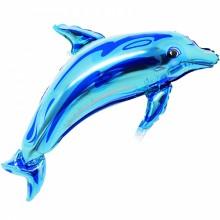 아나그램 라지쉐잎 돌고래 블루 은박호일 풍선