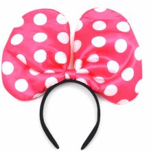 점보땡땡이머리띠(핑크) 파티머리띠 왕리본머리띠