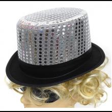고급마술사모자(실버스팡클) 파티모자 파티소품 신사모자 반짝이 골드 모자