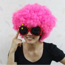 점보가발 핑크 삐에로 뽀글이 파마 연극 소품
