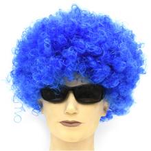 점보가발 블루 삐에로 뽀글이 파마 연극 소품
