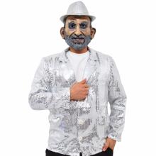 반짝이자켓 실버 무대의상 축제 행사 스팽글자켓