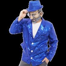 반짝이자켓 블루 무대의상 축제 행사 스팽글자켓