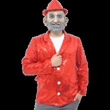 반짝이자켓 레드 무대의상 축제 행사 스팽글자켓