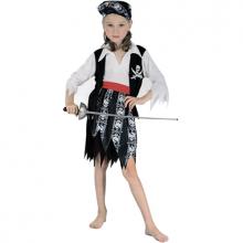 해적해골아동여자의상 할로윈파티 캐리비안 아동의상