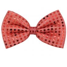 나비넥타이(중)레드 반짝이 웨이터 넥타이 중형사이즈 파티의상소품
