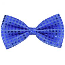나비넥타이(중)블루 반짝이 웨이터 넥타이 중형사이즈 파티의상소품