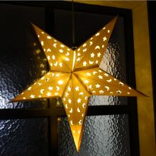페이퍼별(화이트) 생일 크리스마스 파티 실내 천정장식 데코별 흰색 페이퍼스타