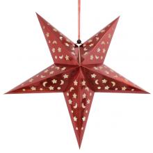 페이퍼별(레드) 생일 크리스마스 파티 실내 천정장식 데코별 레드색상 페이퍼스타