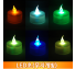 LED초(무지개빛) 촛불이벤트 티라이트 프로포즈 무드효과 꺼지지않는 양초
