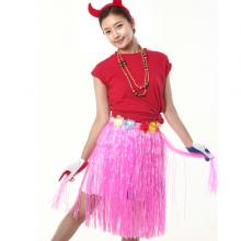 훌라스커트(핑크) 응원소품 응원의상 송년회 연말송년파티 하와이의상