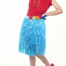 훌라스커트(블루) ★ 응원소품 응원의상 송년회 연말송년파티 하와이 치마의상