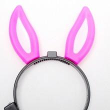 램프토끼머리띠(핑크) 핑크토끼 콘서트 응원 LED 조명 머리띠