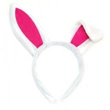 토끼머리띠(일반) 토끼귀 모양 흰색 화이트버니 파티머리띠