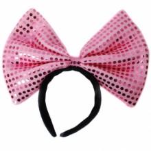 왕리본머리띠(대)핑크 ★ 파티머리띠 파티소품머리띠