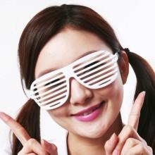 셔터쉐이드안경(화이트) 코믹 클럽 패션 바캉스 해변 안경