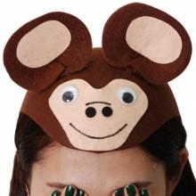 원숭이모자 유치원 동물모자 파티모자
